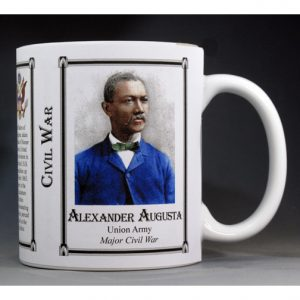 Alexander Augusta, Civil War Union Army history mug.