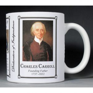 Charles Carroll, Declaration of Independence history mug.
