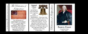 Samuel Chase Declaration of Independence signatory history mug tri-panel.