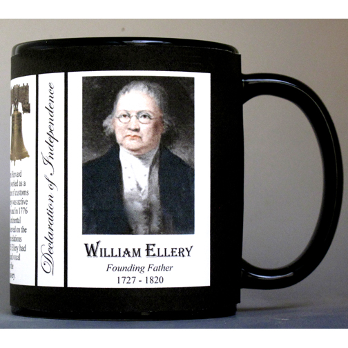 William Ellery Declaration of Independence signatory history mug.