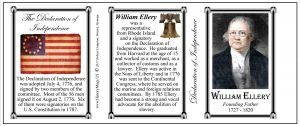 William Ellery Declaration of Independence signatory history mug tri-panel.