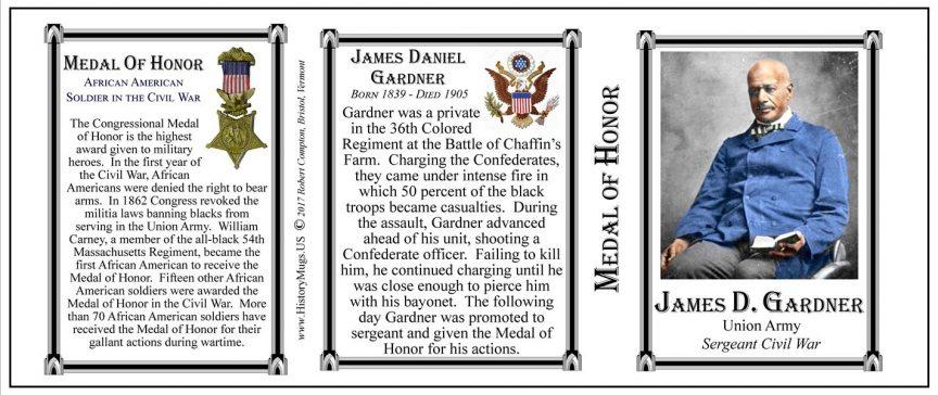 James Gardner Civil War history mug tri-panel.