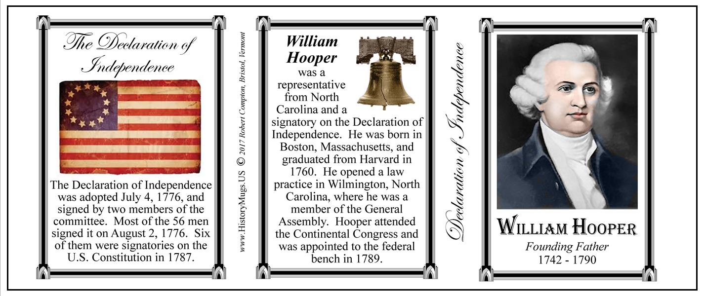 Hooper William Declaration Of Independence Historymugs Us
