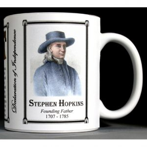 Stephen Hopkins Declaration of Independence signatory history mug.