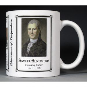 Samuel Huntington Declaration of Independence signatory history mug.