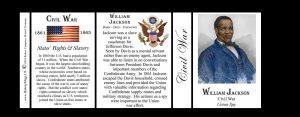 William Jackson Civil War history mug tri-panel.