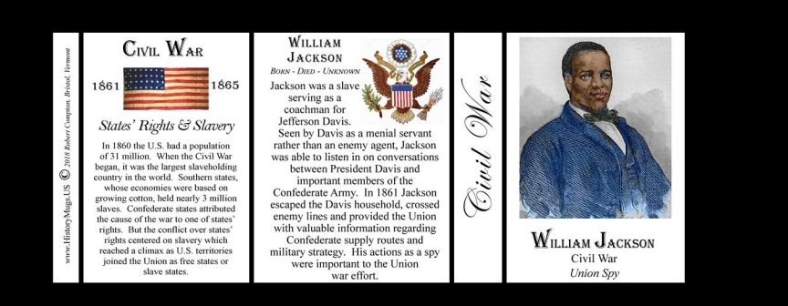 William Jackson Civil War history mug tri-panel.
