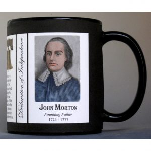 John Morton Declaration of Independence signatory history mug.