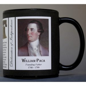 William Paca Declaration of Independence signatory history mug.