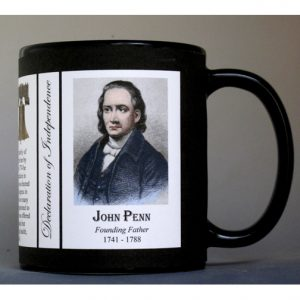 John Penn Declaration of Independence signatory history mug.