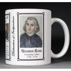 George Ross Declaration of Independence signatory history mug.