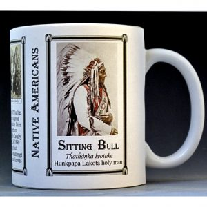 Sitting Bull Native American history mug.