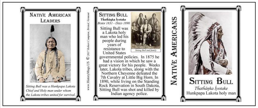 Sitting Bull, Tȟatȟáŋka Íyotake, Native American leader History Mug tri-panel.