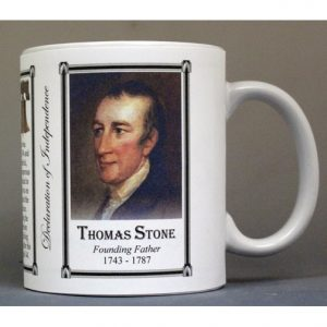Thomas Stone Declaration of Independence signatory history mug.