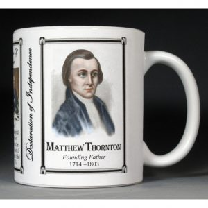 Matthew Thornton Declaration of Independence signatory history mug.