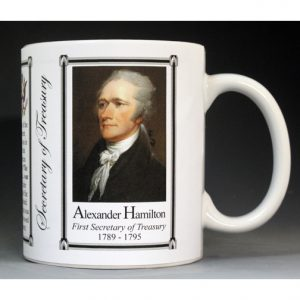 01-Secretary of the Treasury, Alexander Hamilton history mug.