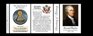 Alexander Hamilton US Secretary of Treasury history mug tri-panel.
