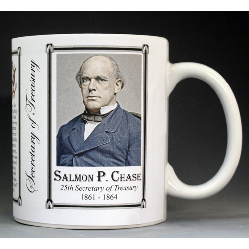 Salmon P. Chase US Secretary of Treasury history mug.