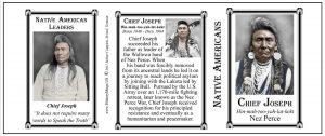 Chief Joseph Native Americans history mug tri-panel.