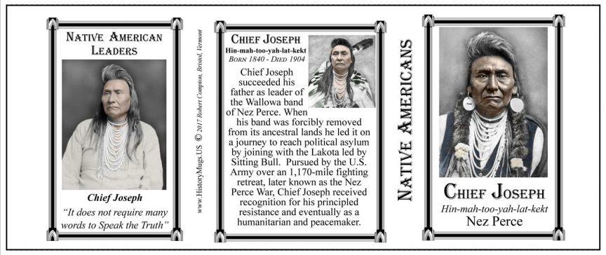 Chief Joseph Native American leader History Mug tri-panel.