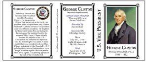 George Clinton US Vice President history mug tri-panel.