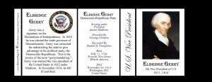 Elbridge Gerry US Vice President history mug tri-panel.