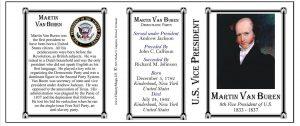Martin Van Buren US Vice President history mug tri-panel.