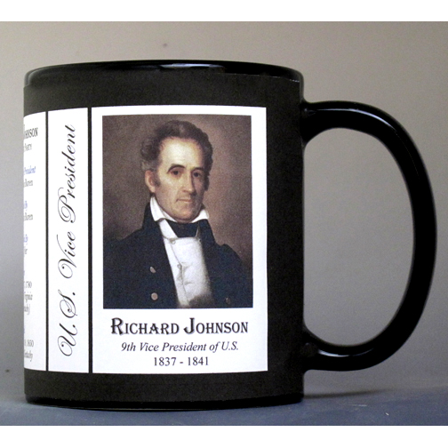 Richard Johnson US Vice President history mug.