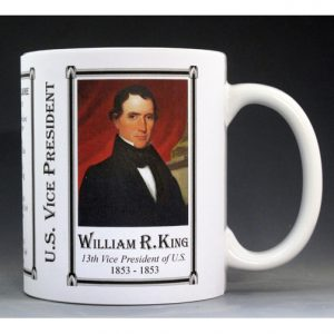 U.S. Vice President William King, History Mug.