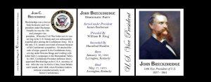 John Breckinridge US Vice President history mug tri-panel.