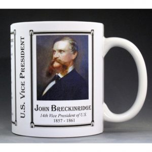 John Breckinridge US Vice President history mug.