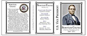 Schuyler Colfax US Vice President history mug tri-panel.