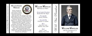 William Wheeler US Vice President history mug tri-panel.