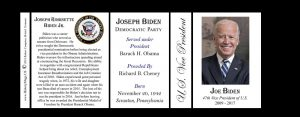 Joe Biden US Vice President history mug tri-panel.