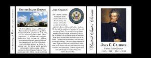 John C. Calhoun US Senator history mug tri-panel.