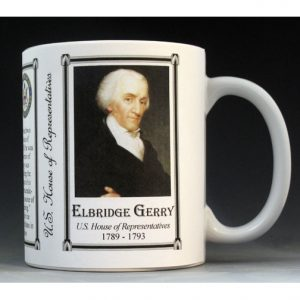 U.S. House Representative Elbridge Gerry history mug.