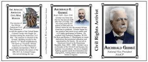 Archibald Grimké Civil Rights Activist history mug tri-panel.