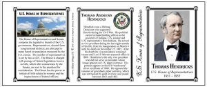 Thomas Hendricks US Representative history mug tri-panel.