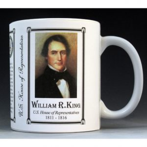 U.S. House Representative William King history mug.
