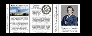 Thaddeus Stevens US Representative history mug tri-panel.