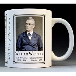 U.S. House Representative William Wheeler history mug.