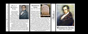Washington Irving Author history mug tri-panel.