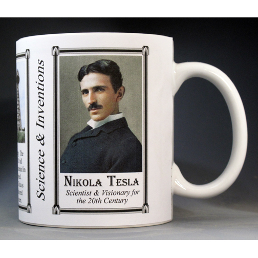 Nikola Tesla Scientist and Inventor History Mug.