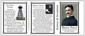 Nikola Tesla Scientist & Inventor history mug tri-panel.