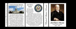 John Quincy Adams US Senator history mug tri-panel.
