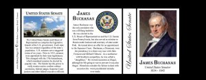 James Buchanan US Senator history mug tri-panel.