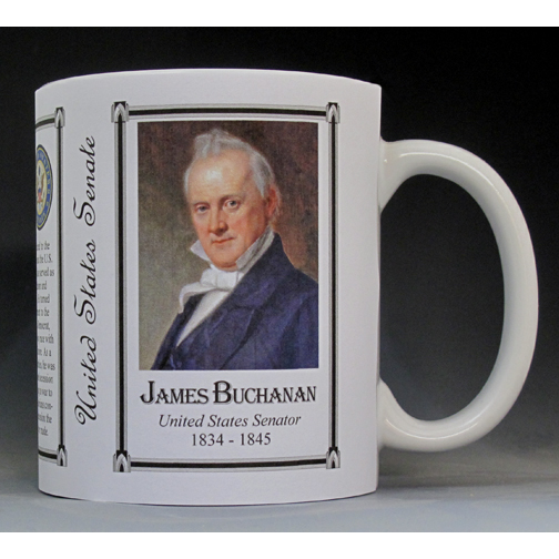 James Buchanan US Senator history mug.