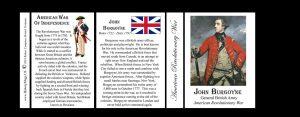 General John Burgoyne, British soldier, Revolutionary War history mug tri-panel.