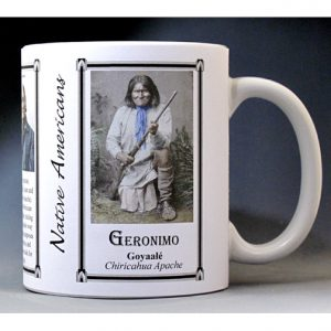 Geronimo, Native American history mug.