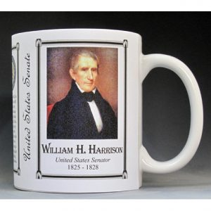 William Henry Harrison US Senator history mug.